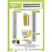 مته های ته گرد کبالت و جعبه مته ولف WOLF