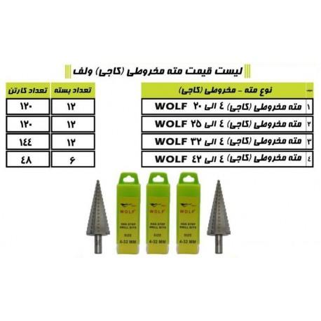 مته های مخروطی (کاجی) ولف WOLF